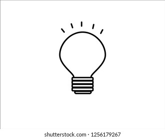 Light bulb icon isolated on white background. Symbol of lighting, electric. Idea sign, thinking concept in flat style for graphic design.