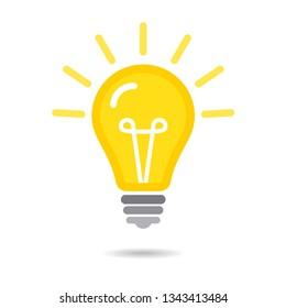 Light Bulb icon isolated on white
