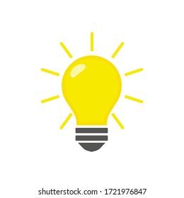 Light bulb icon isolated on white background. Vector illustration. Eps 10.