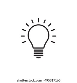 light bulb icon isolated on white background