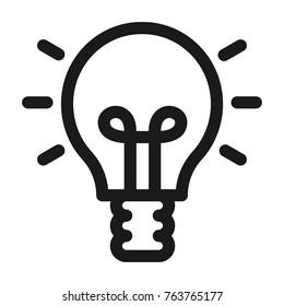 Light bulb icon. Line style