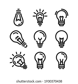 light bulb icon or logo isolated sign symbol vector illustration - Collection of high quality black style vector icons