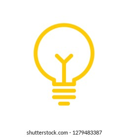 Light bulb icon, symbol of idea and creativity