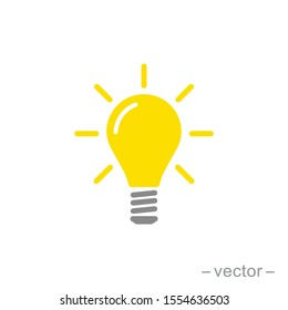 The light bulb icon vector, full of ideas and creative thinking, analytical thinking for processing. Full color illustration. EPS 10