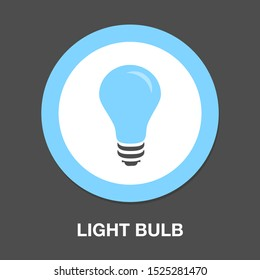 light bulb icon, vector idea, creative design concept, innovation symbol