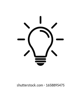 Light bulb icon vector. Idea icon symbol design