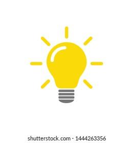 Light bulb icon vector. Light bulb ideas symbol illustration