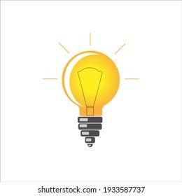 Light bulb icon vector. incandescent lamp Idea icon symbol design