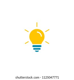 Light Bulb icon vector isolated on white background. Idea sign thinking concept. Lighting Electric lamp.