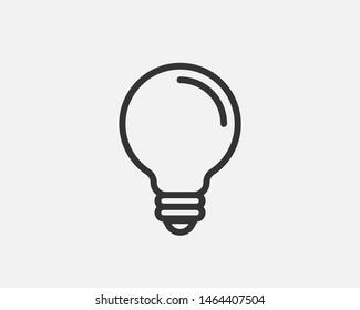 Light bulb icon vector. Llightbulb idea logo concept. Lamp electricity icons web design element. Led lights isolated silhouette.