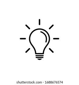 Light Bulb icon vector. Light Bulb sign.   Idea, solution.