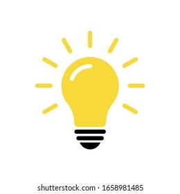Light bulb icon vector. Solution, idea icon symbol vector graphic