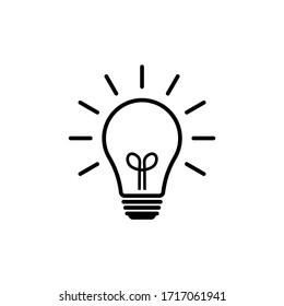 Light bulb icon vector. Solution icon symbol vector graphic