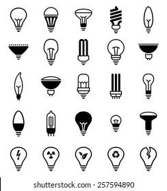 Light bulb icons - Illustration Vector illustration of lamp icons