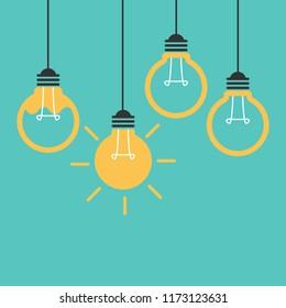 Light bulb idea. Business idea concept vector illustration