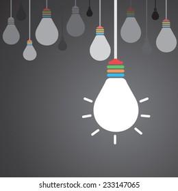 Light bulb idea concept background