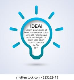 Light bulb idea concept template. Vector illustration.