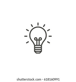 light bulb, idea, lamp outline icon vector