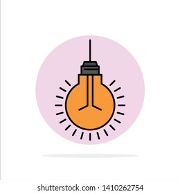 Light, Bulb, Idea, Tips, Suggestion Abstract Circle Background Flat color Icon