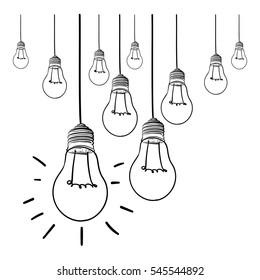 light bulb idea vector illustration on white background. idea concept light bulb. good idea.