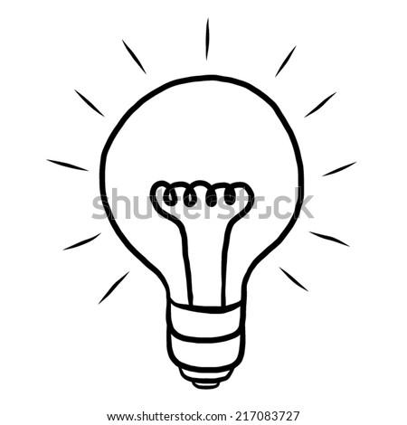 Light Bulb Ideas Cartoon Vector Illustration Stock Vektorgrafik