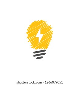 Light bulb lamp graphic icon design template isolated