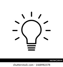 Light bulb lamp icon vector illustration logo template. EPS 10