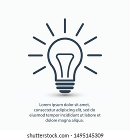 Light bulb, lamp icon.Vector illustration EPS10. Electric concept