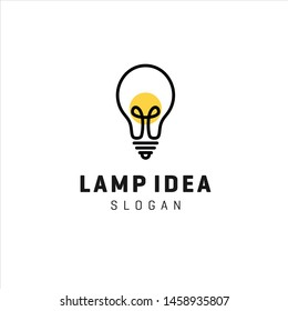 light bulb lamp vector illustration graphic icon template download
