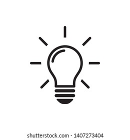 Light Bulb line icon design template. Vector EPS 10