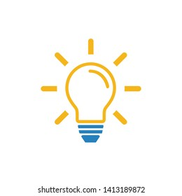 Light Bulb line icon, lamp symbol icon vector. for web and mobile