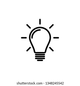 Light bulb line icon vector. Light bulb, ideas, solution symbol