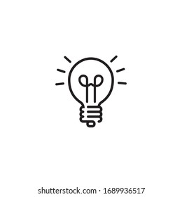 Light bulb line icon vector, Idea sign, solution, Thinking concept. Lighting Electric lamp. Electricity, Shine.