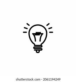 Light Bulb line icon vector, terisolasi pada latar belakang putih. Tanda ide, solusi, konsep berpikir. Lampu listrik pencahayaan. Listrik, bersinar. Gaya datar trendi untuk desain grafis, situs Web, U