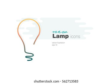 Light Bulb line icon vector, isolated on white background. Idea sign, solution, thinking concept. vector illustration