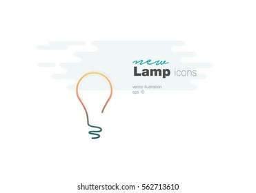 Light Bulb line icon vector, isolated on white background. Idea sign, solution, thinking concept.vector illustration
