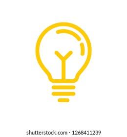 Light bulb linear vector icon, symbol of solution, idea symbol
