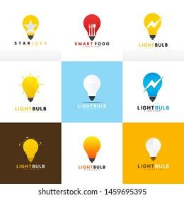 Light bulb logo idea symbol design - vector