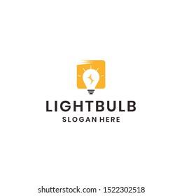 light Bulb logo ikon desain vektor