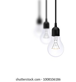 Light bulb on isolated background. Background for Info-graphics, Presentations. Business Concept ideas.