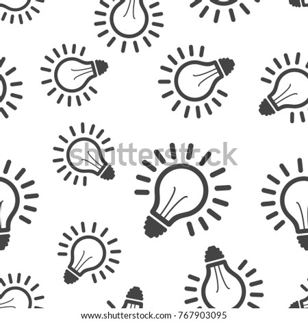 Light Bulb Seamless Pattern Background Business Stock Vector