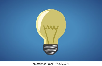 Light bulb switched off isolated - vector illustration