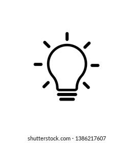 light bulb symbol outline vector