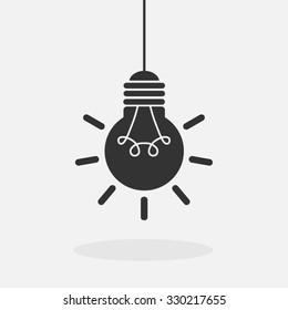 Light bulb vector icon.