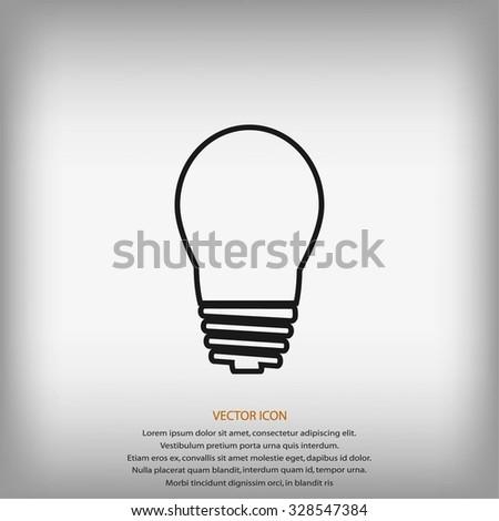 Light Bulb Vector Icon Stock Vector Royalty Free 328547384