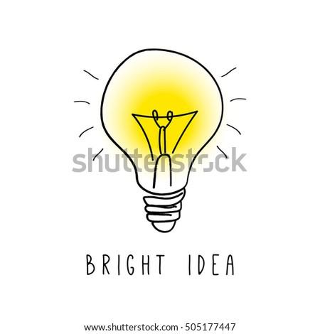 Light Bulb Vector Icon Bright Idea Concept