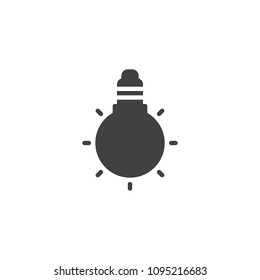 Light bulb vector icon. filled flat sign for mobile concept and web design. LED Lamp simple solid icon. Symbol, logo illustration. Pixel perfect vector graphics
