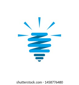 Light bulb vector icon, fresh idea, thinking, lamp. Clean and modern style design