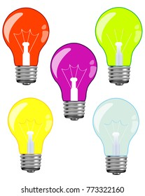Light bulbs of the miscellaneous of the colour
