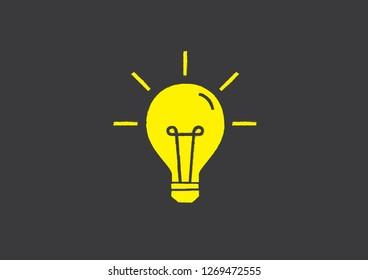 Light Bulbs vector. Idea concept illustration.